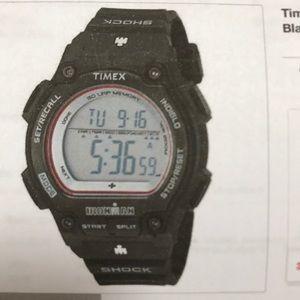 Timex 30 lap shock resistant Ironman black watch